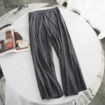 Japan Pleated Pant Women's High Waist Pants - One Size