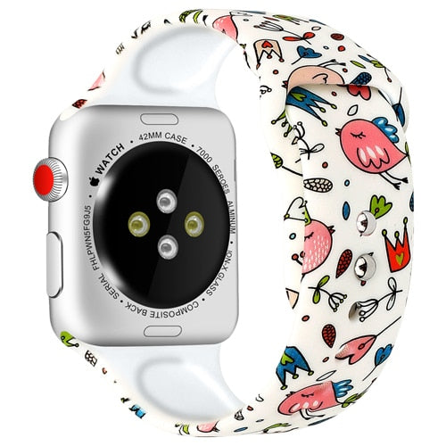 Apple Smartwatch's Varicolored Silicone Strap