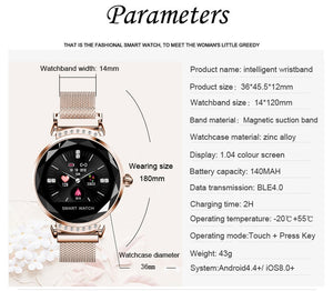 Luxury Bracelet Women Smartwatch