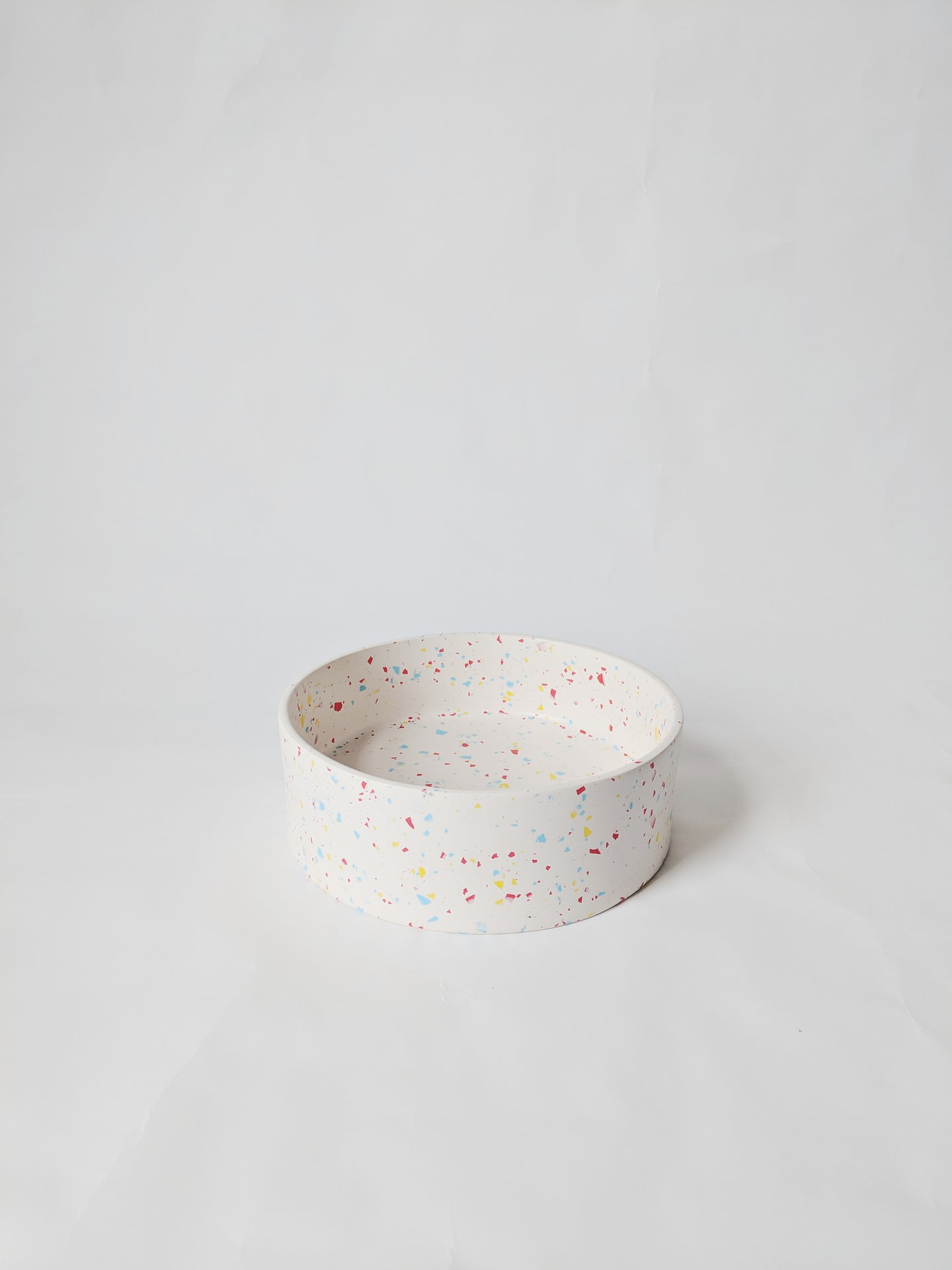 Primary Terrazzo Dog Food Bowl