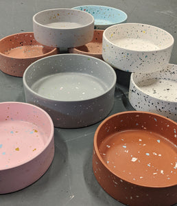 Custom Terrazzo Dog Food Bowl