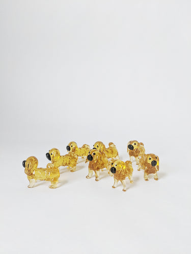 Glass Dog Ornament
