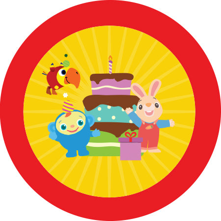 BabyFirst Party Stickers