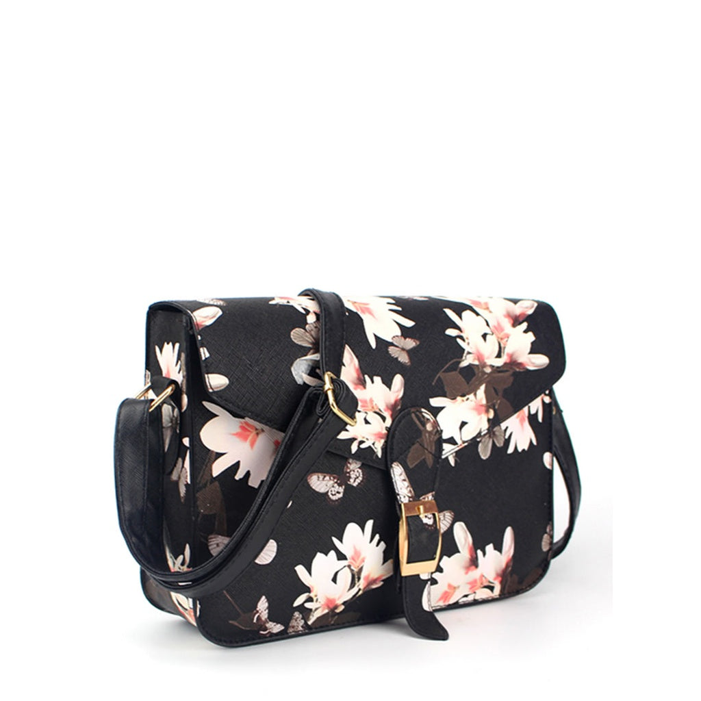 Flower Printed Crossbody Bag - Beryl Green