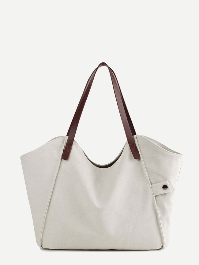 Minimalist Tote Bag With PU Handle
