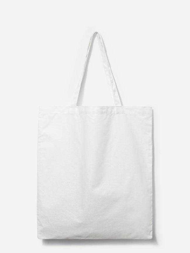 Dog Print Canvas Tote Bag