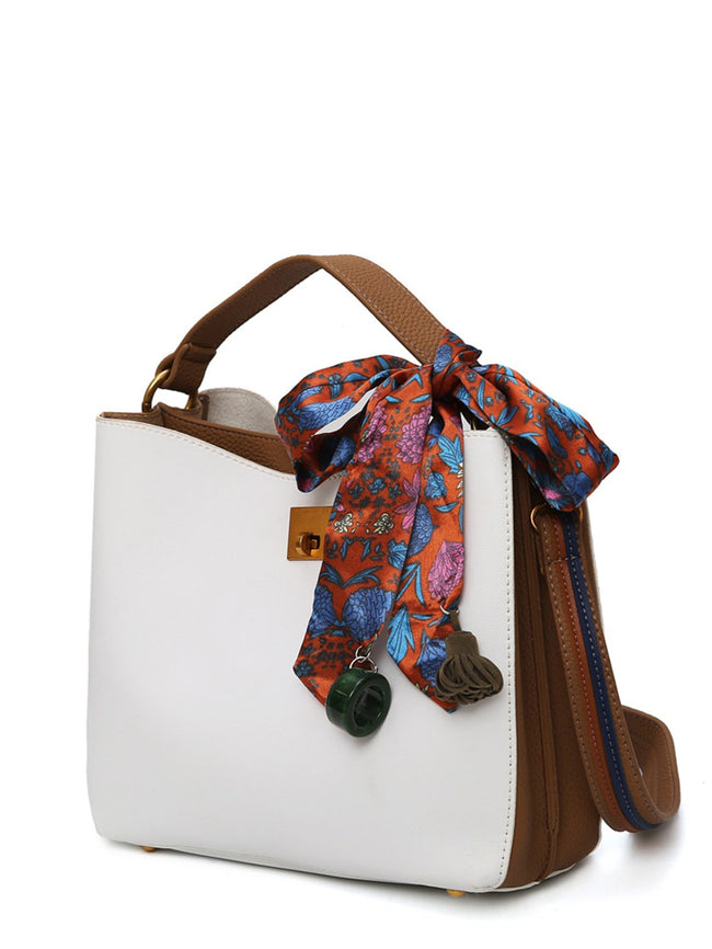 Twilly Scarf PU Shoulder Bag