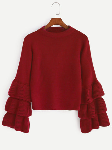 Drop Shoulder Twist Detail Jumper