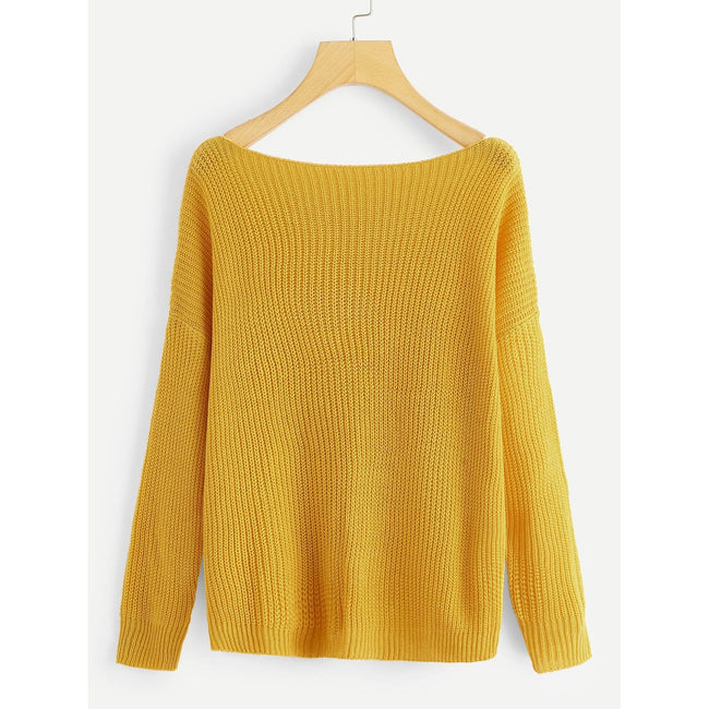Ribbed Solid Jumper - Beryl Green