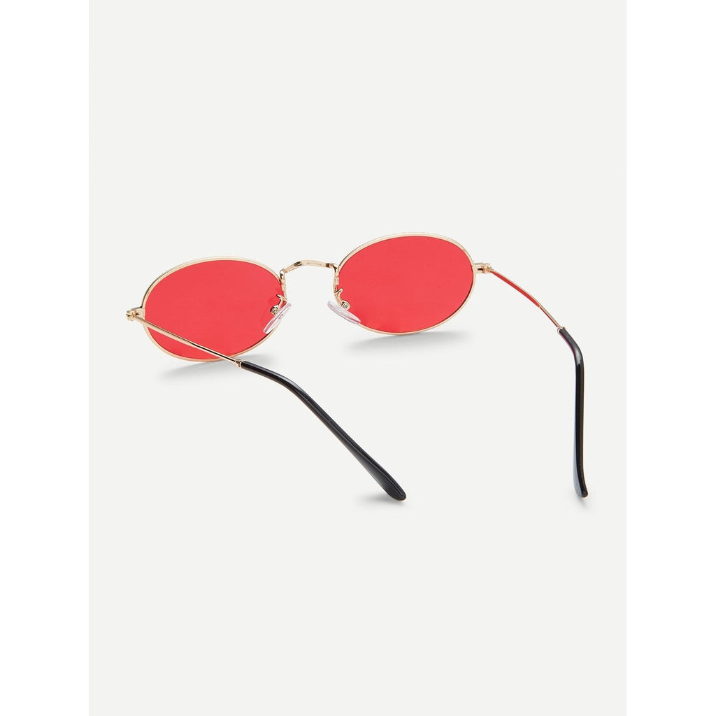 Tinted Oval Sunglasses - Beryl Green