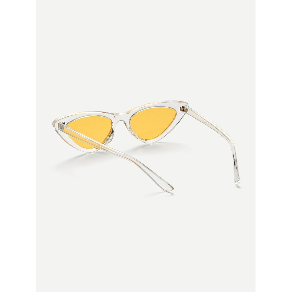 Cat Eye Flat Lens Sunglasses - Beryl Green