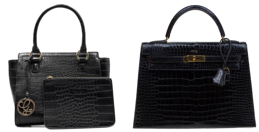 Vegan and animal leather bags can be very similar in look and texture
