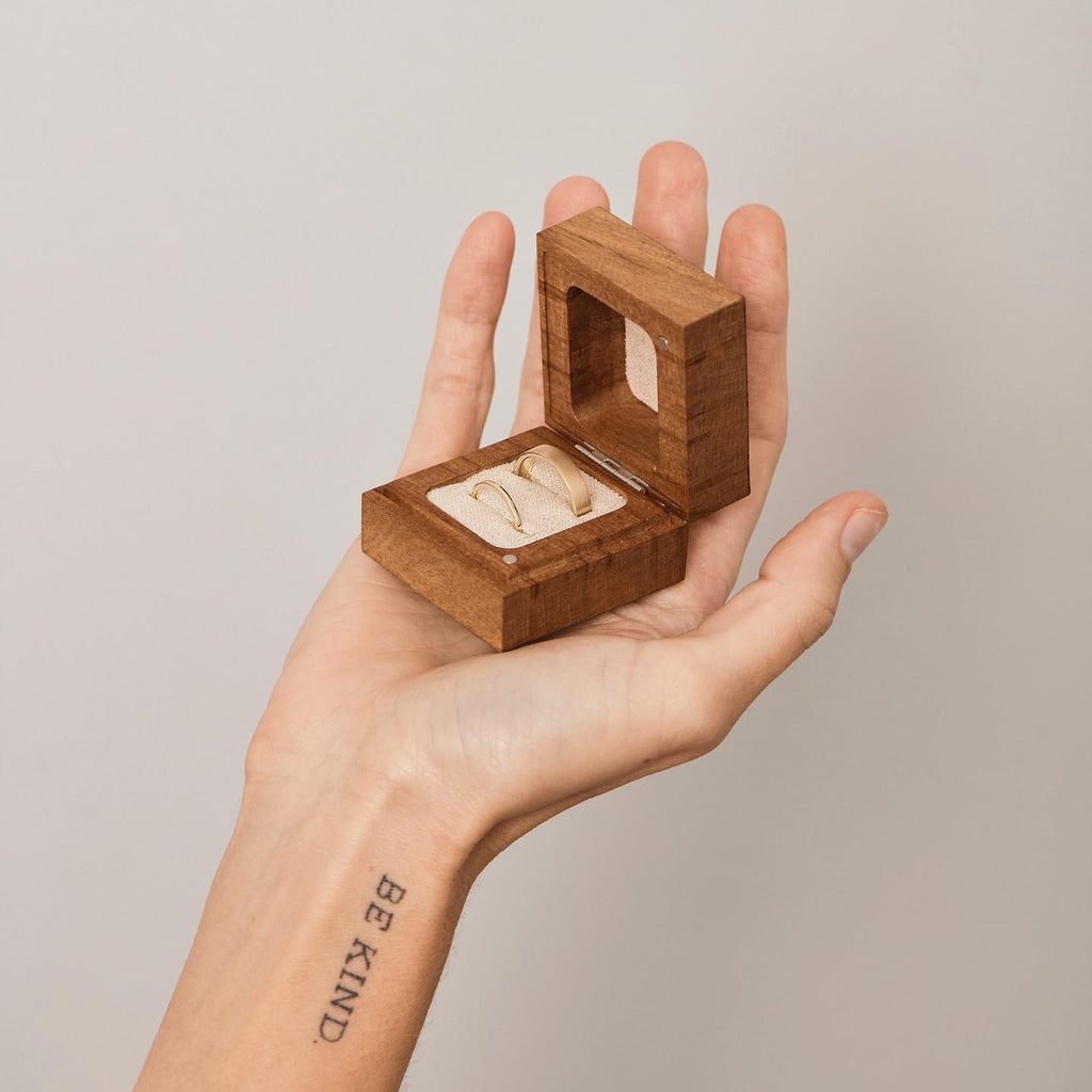wooden jewellery box and ethical jewellery