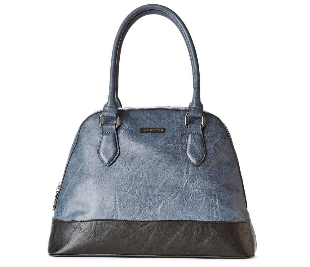 blue vegan exotic luxury handbag