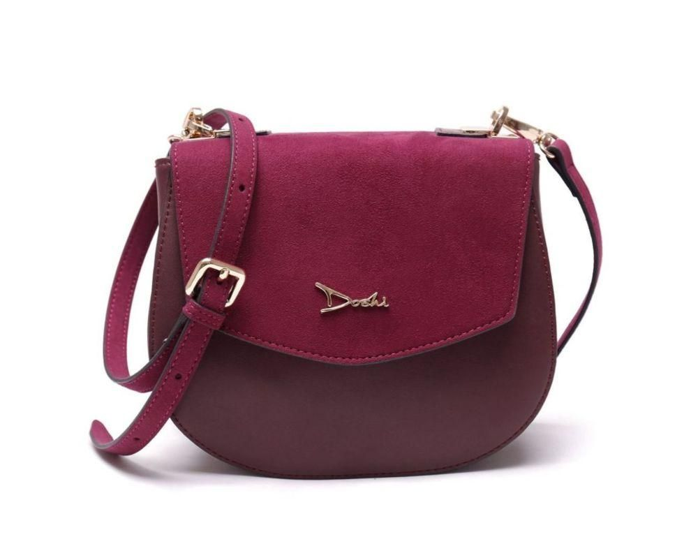 burgundy vegan leather handbag