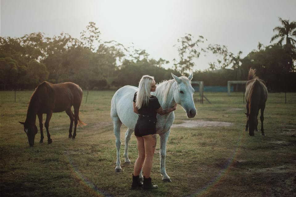 Kate, Deathrow Unchained founder and rescued horses