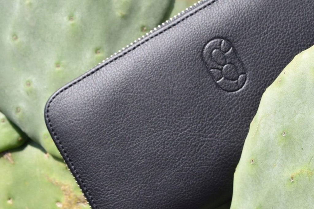 cactus leather vegan wallet