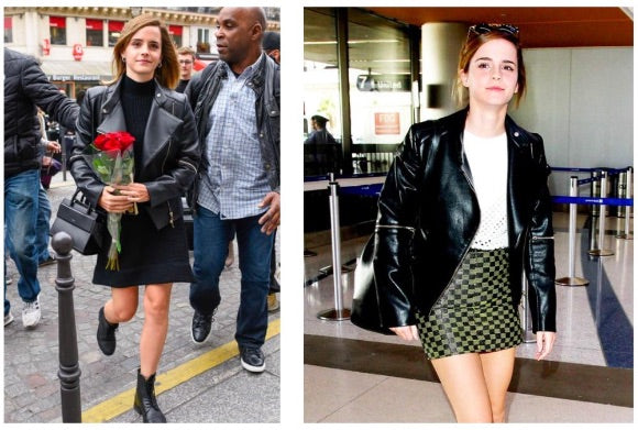 emma watson vegan leather boots and ethical fashion outfit
