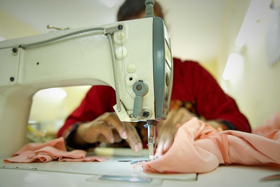 garment worker making ethical fashion