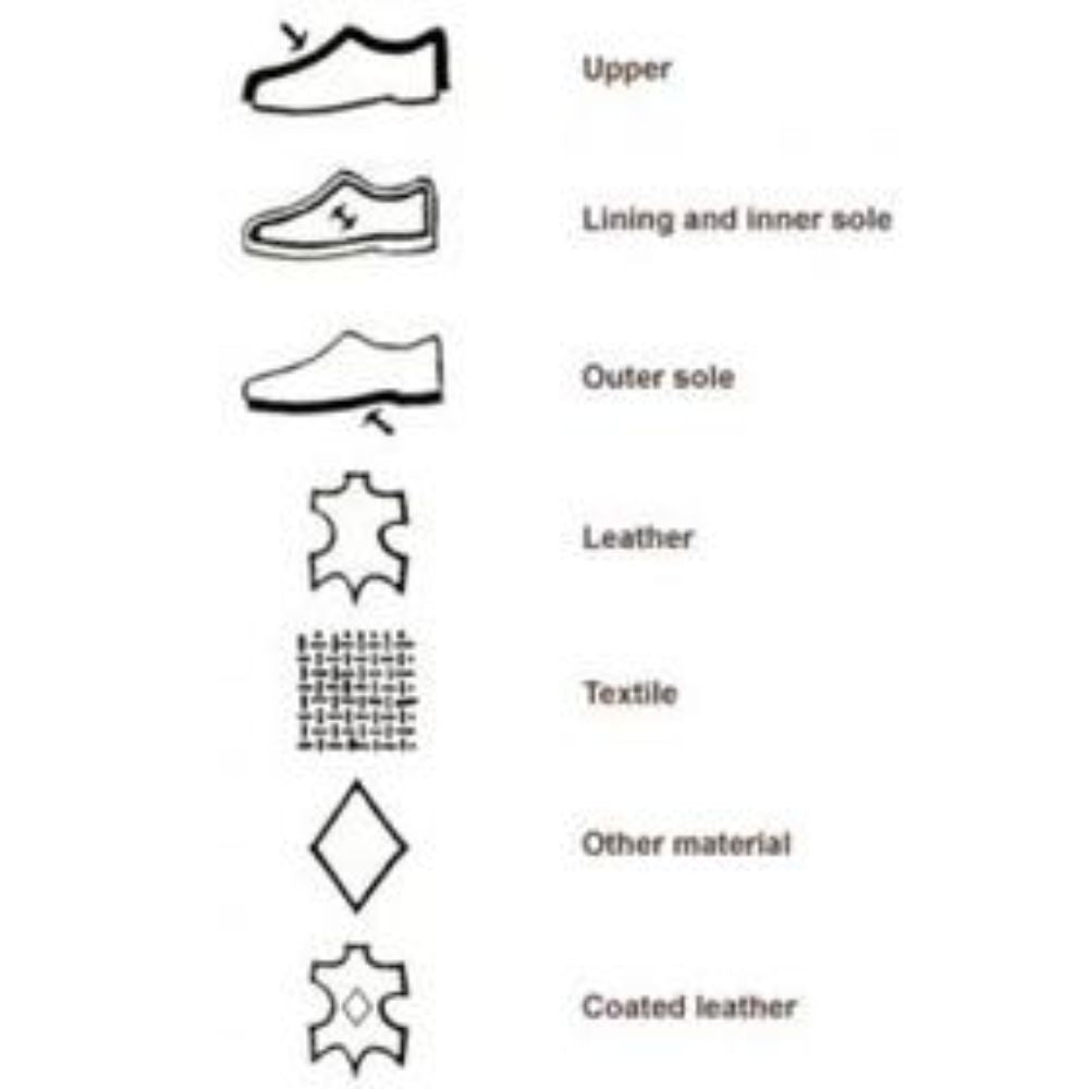 animal skin leather shoe labels