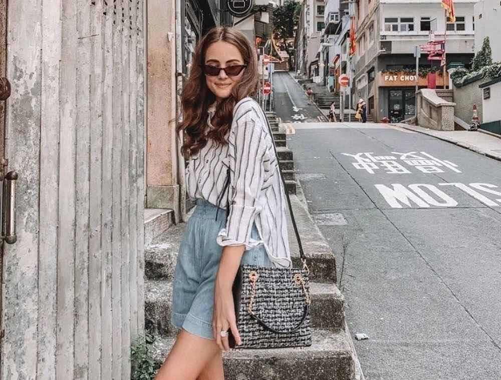 days like laura blogger wearing kinds of grace bag and striped shirt