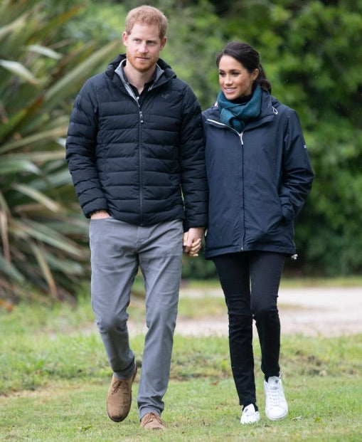 meghan markle in vegan leather sneakers by stella mcncarntey and adidas