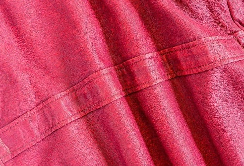 synthetic leather polyurethane in red