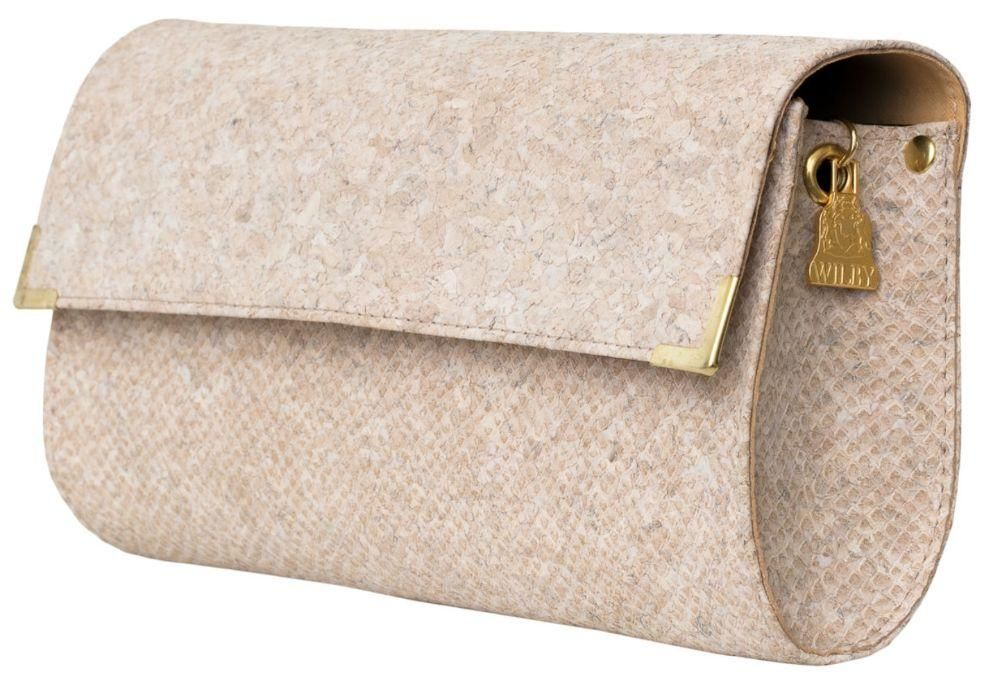 sustainable vegan cork leather purse snake skin pattern