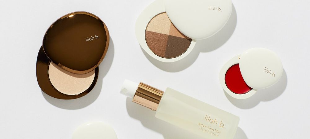 lilah b cosmetics glass packaging