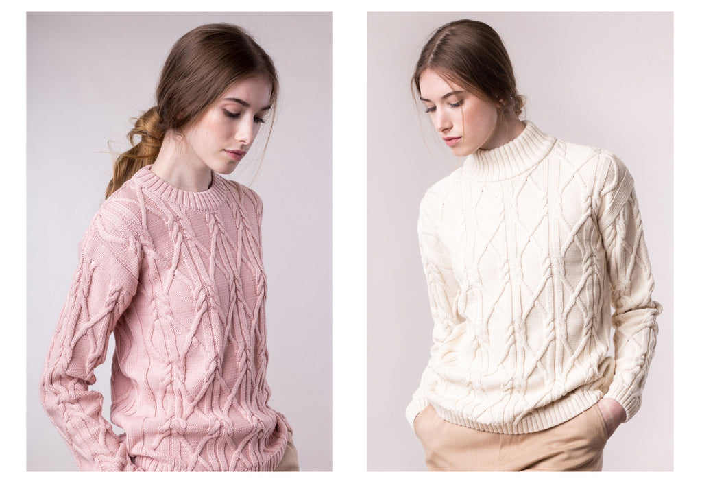 pink vegan sustainable knitwear