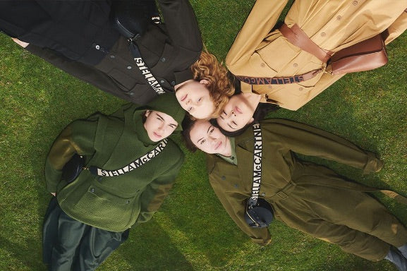 extinction rebellion activists modelling for stella mccartney