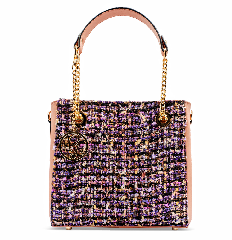 Paeony Blush Tweed Handbag