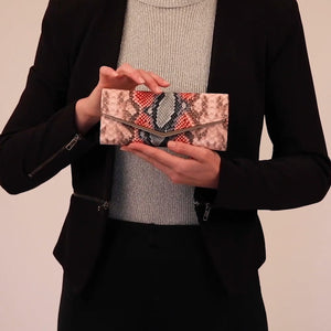 Load and play video in Gallery viewer, Vegan Snakeskin Wallet