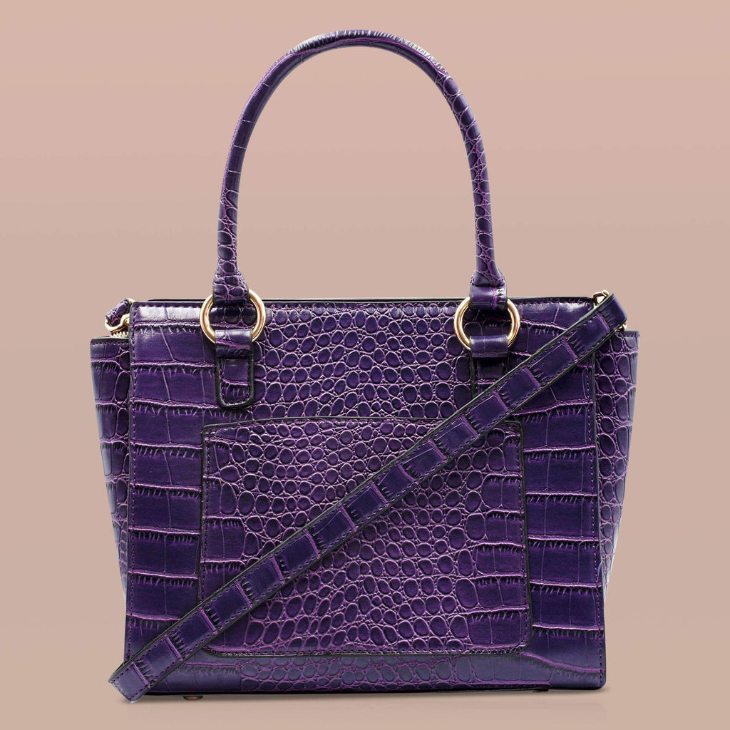 vegan leather bag crocodile embossed