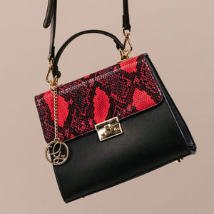 Midnight Garnet Satchel