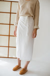 Lola wrap skirt - White