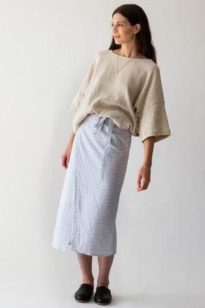 Lola wrap skirt - Stripe