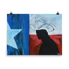 Load image into Gallery viewer, Texas Cowboy Paper Poster