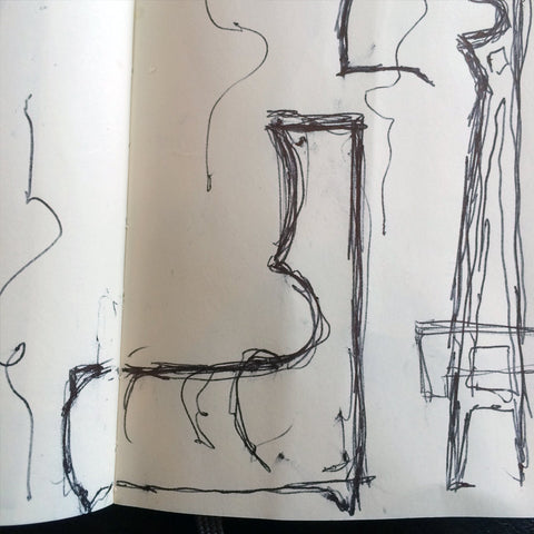 New dust furniture* Grandfather Clocks - Sketch 1