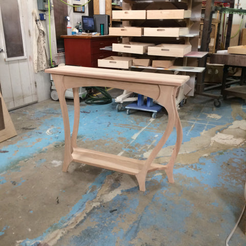 """The Dancing Table"" is complete and ready to be stained."