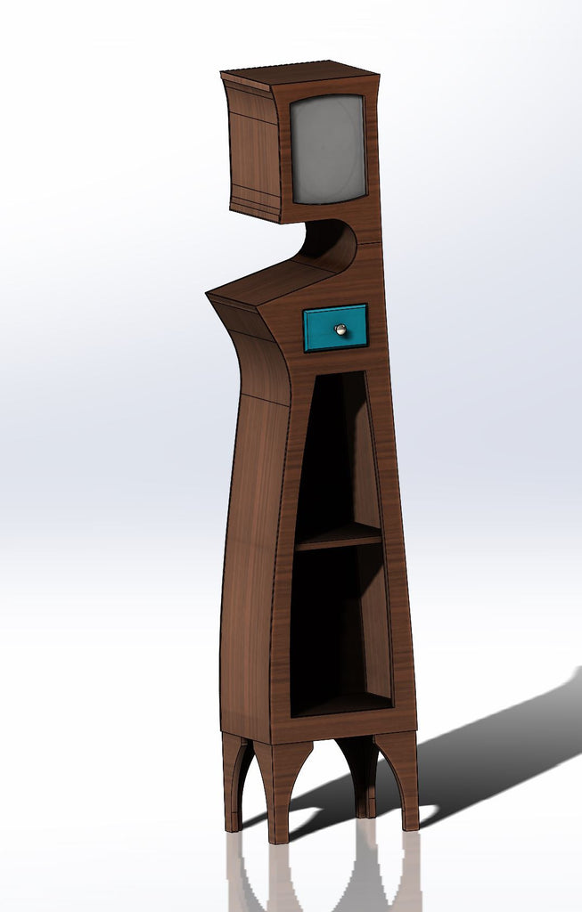 Grandfather Clock No.2 - Abstract Grandfather Clock - In Development