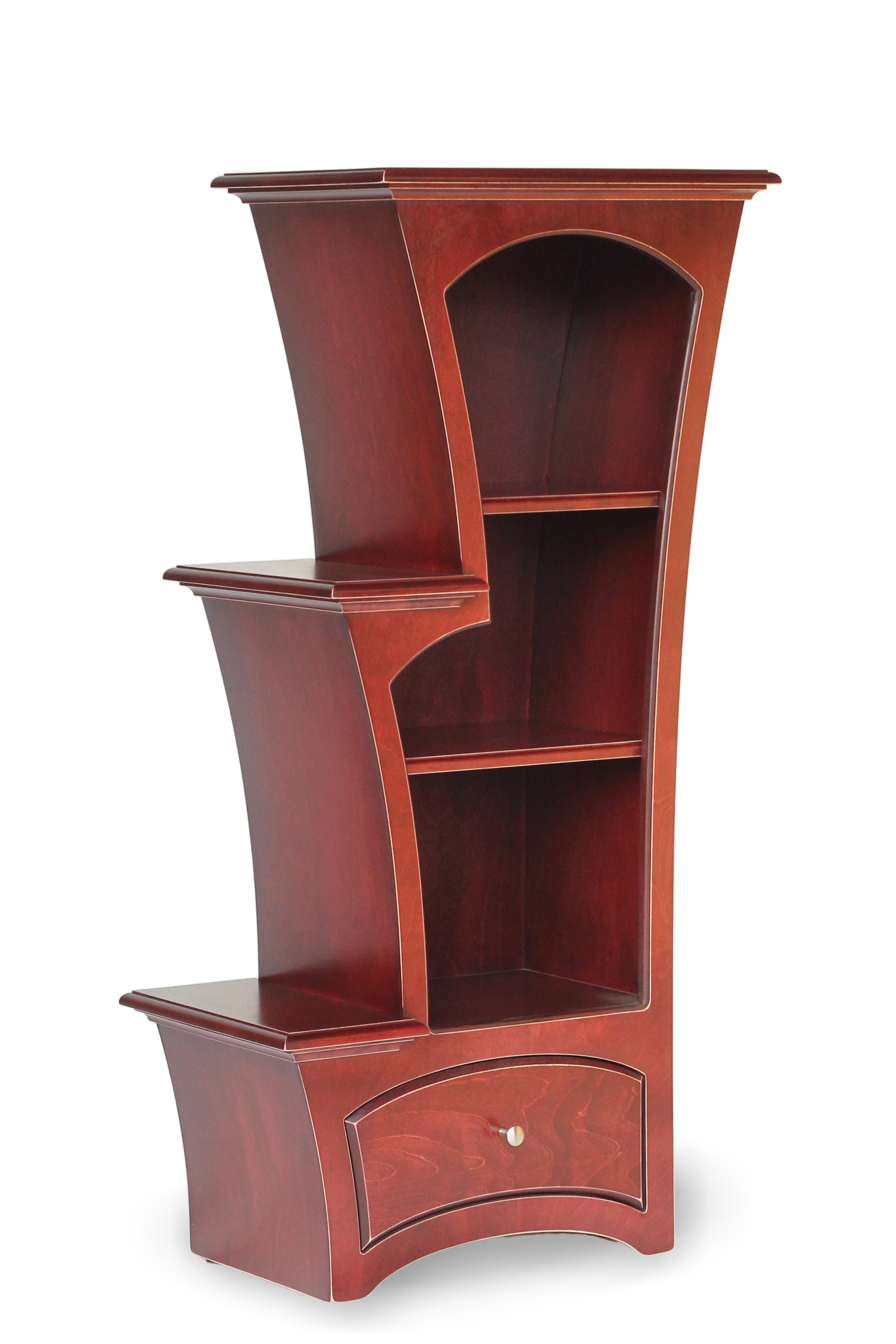 Elegant Bookcase No.7 In Redwood Stain By Dust Furniture