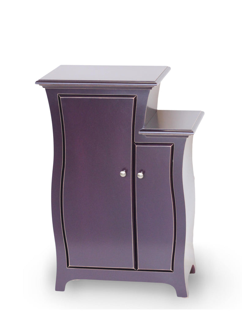 Cabinet No.1 by Dust Furniture* - Abstract traditional, stepped cabinet - Dark Violet Paint - designed by Vincent Leman