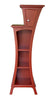 Curved bookcase in Marsala - Color of the Year