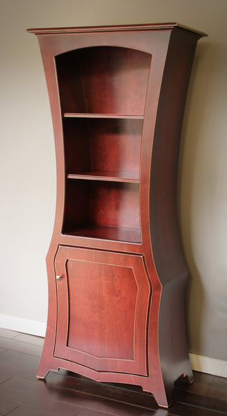 """The Founder"".  An abstract display cabinet in Redwood Stain by Dust Furniture*"