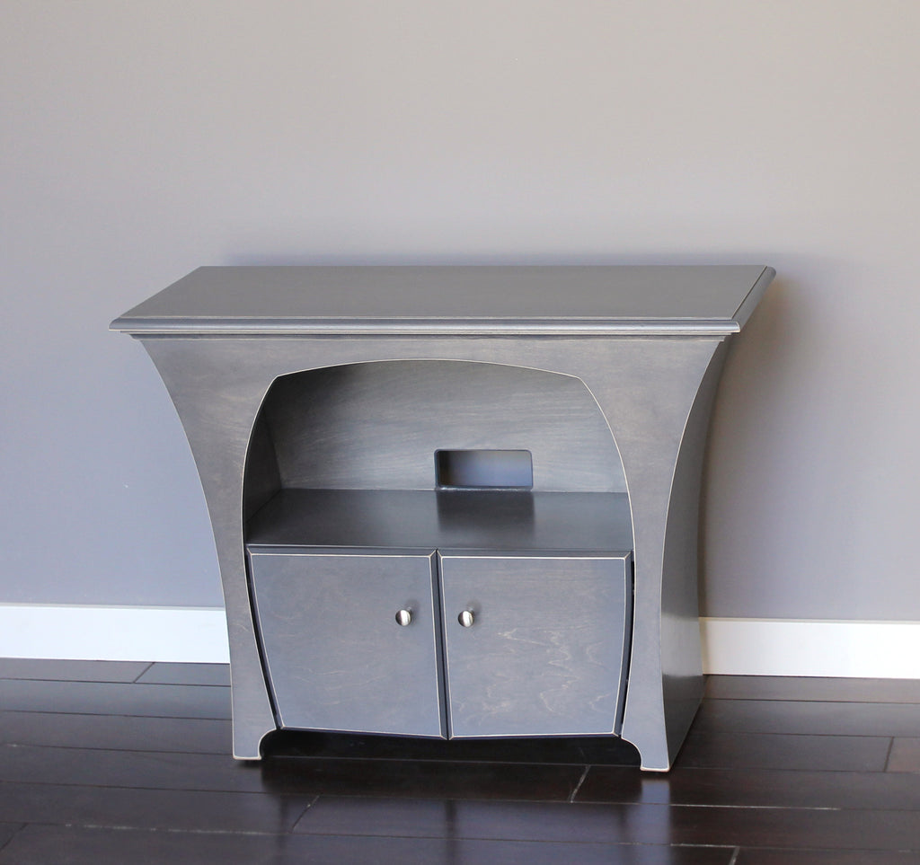 Media Console in Slate Stain