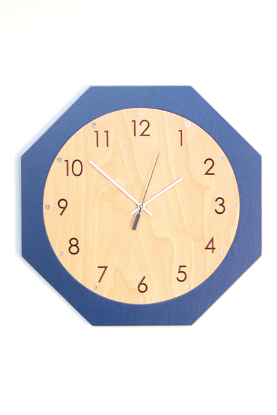 Monaco Blue Kitchen Wall Clock