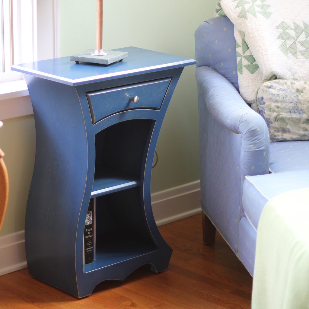 The Spark Table Curved End Table Or Night Stand Dust