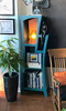Dust Furniture Reversible Stepped Bookcase in Cobalt Turquoise Paint