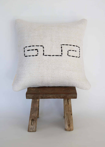 Vintage Hemp Kilim Pillow  (D)